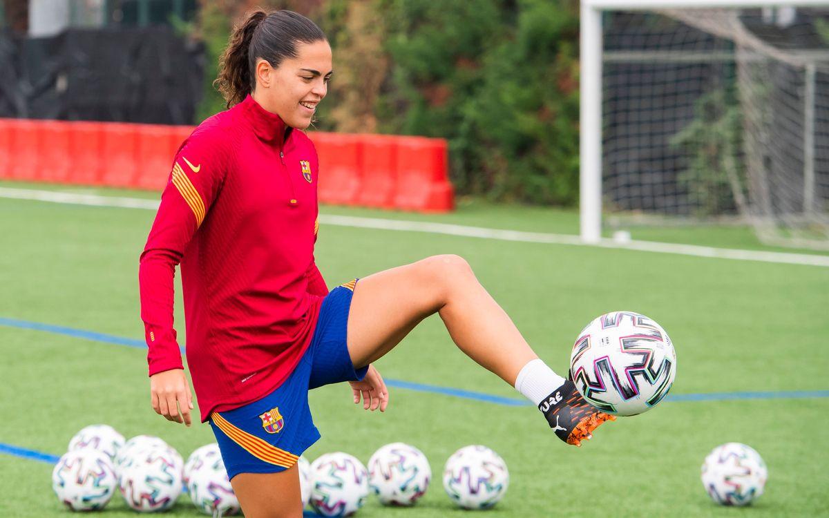 Andrea Falcón, intervenida con éxito de la rodilla derecha