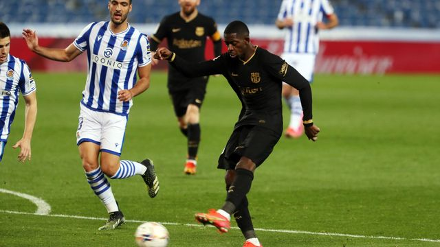 Dembele giúp Barça thăng hoa trong vai trò 'số 9'