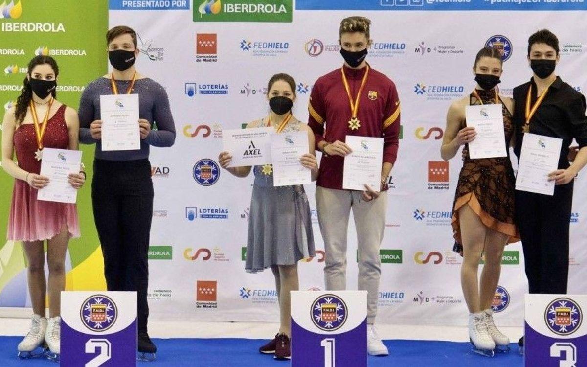 Quatre podis blaugranes al Campionat d'Espanya de patinatge