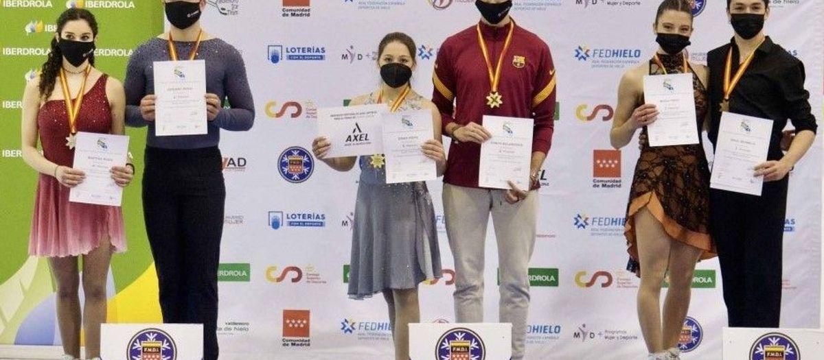 Cuatro podios azulgranas en el Campeonato de España de patinaje
