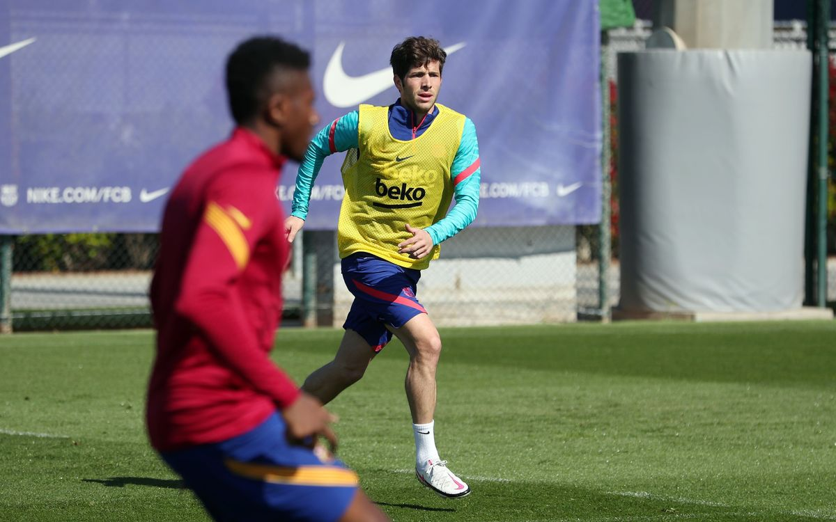 Training in tandem with Barça B