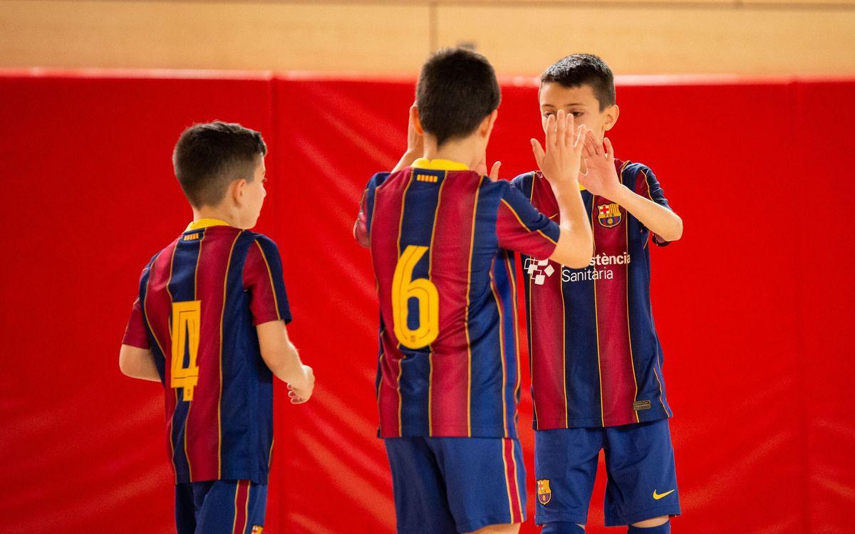 Bona nota en el retorn del futbol sala formatiu a la competició