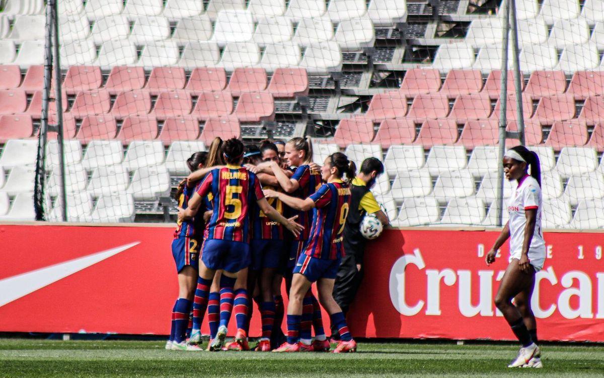 Sevilla-FC Barcelona Femenino: Se mantienen intratables (0-4)