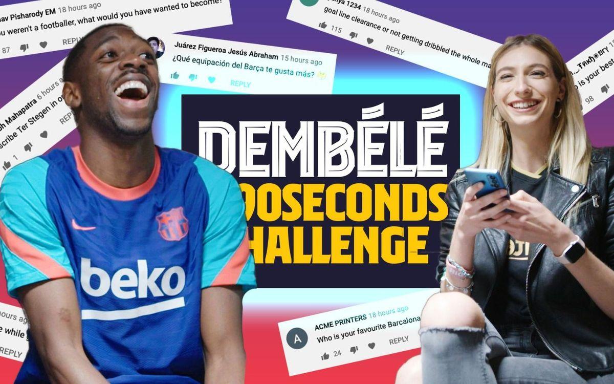 Dembélé relève le défi des 90 secondes