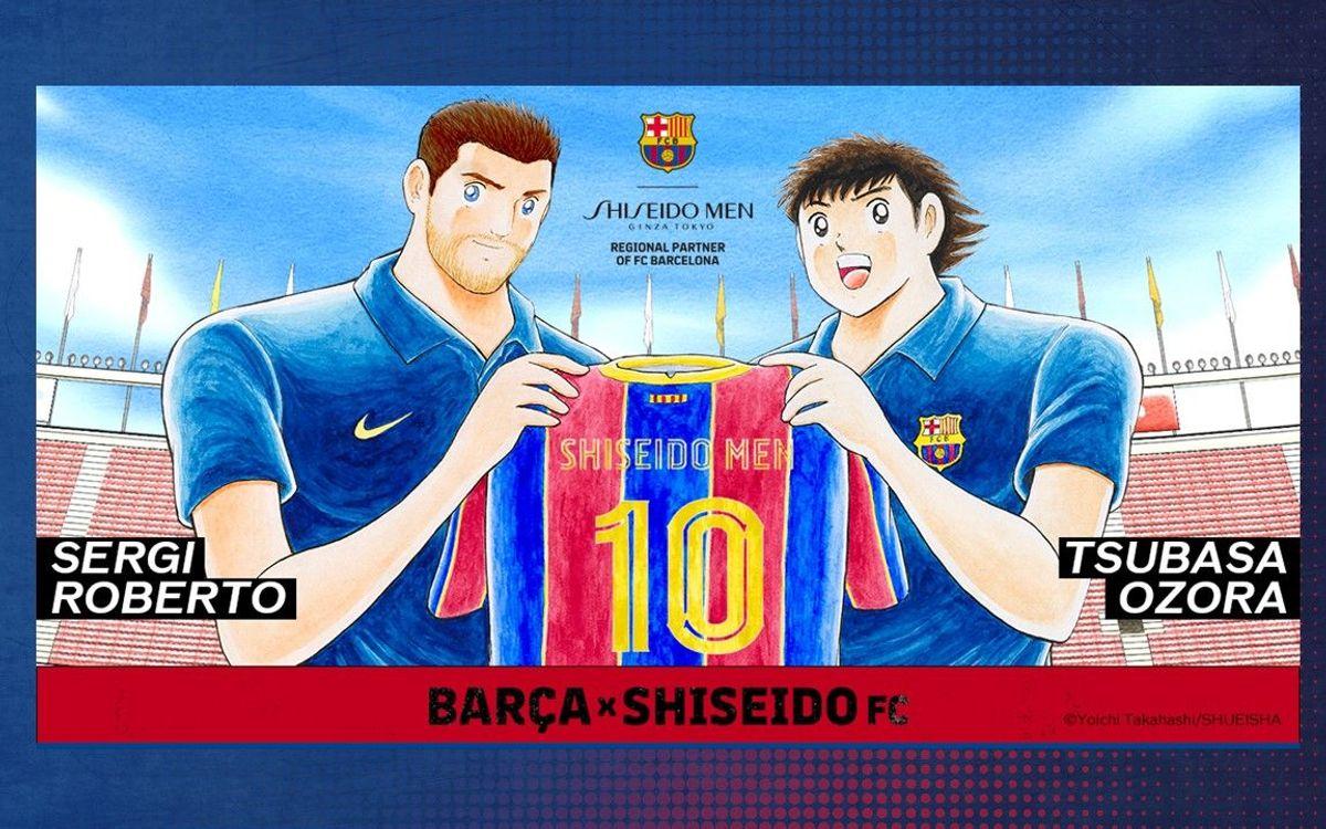 El Barça y SHISEIDO MEN se unen para promover el cuidado de la piel con la ayuda de Oliver Atom
