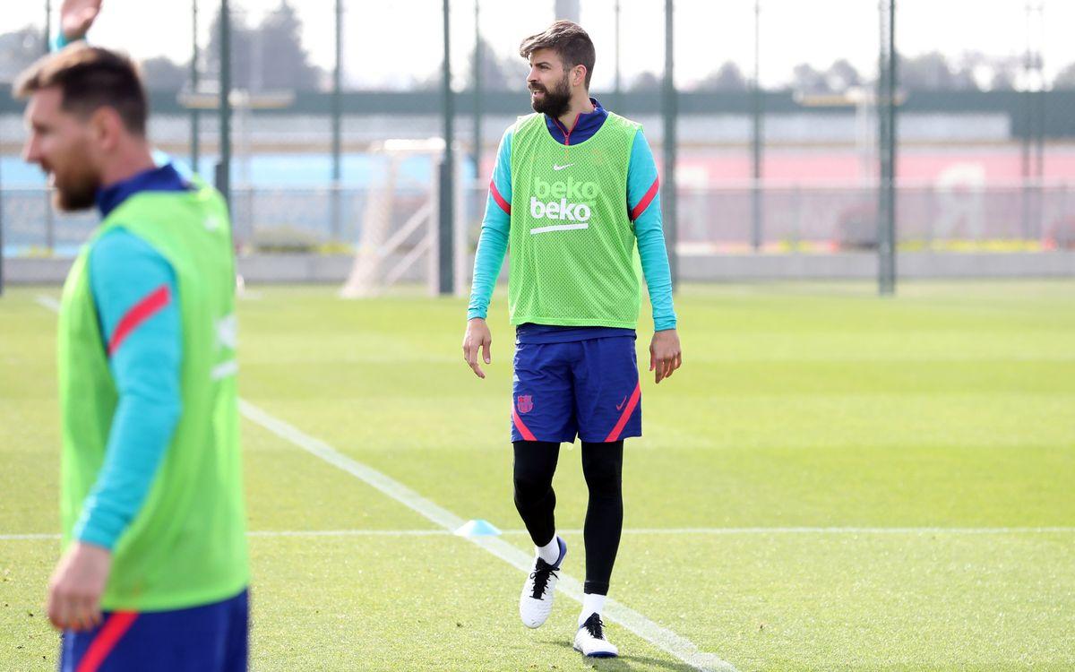 Séance d'entraînement avec le Barça B