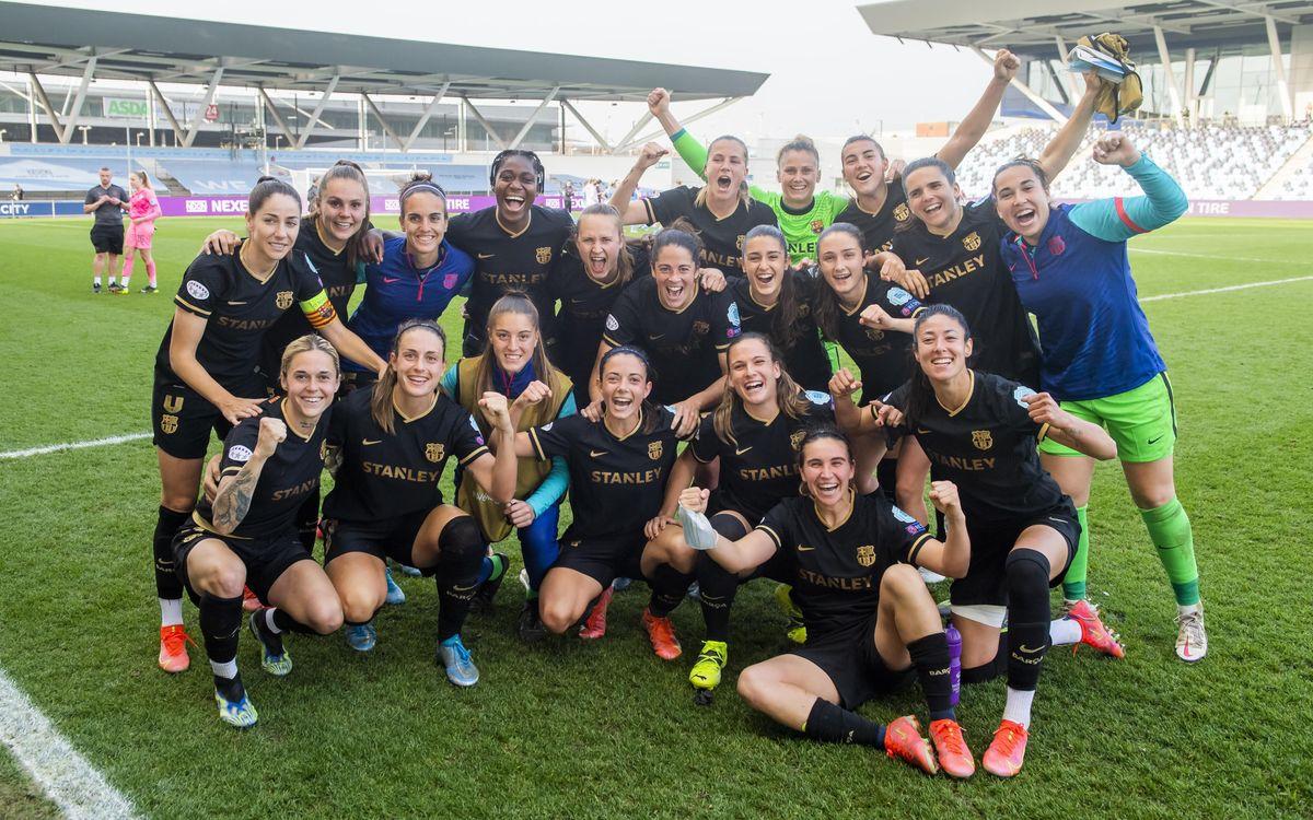 Manchester City-FC Barcelona Femenino: ¡Clasificadas para las semifinales! (2-1, 2-4)