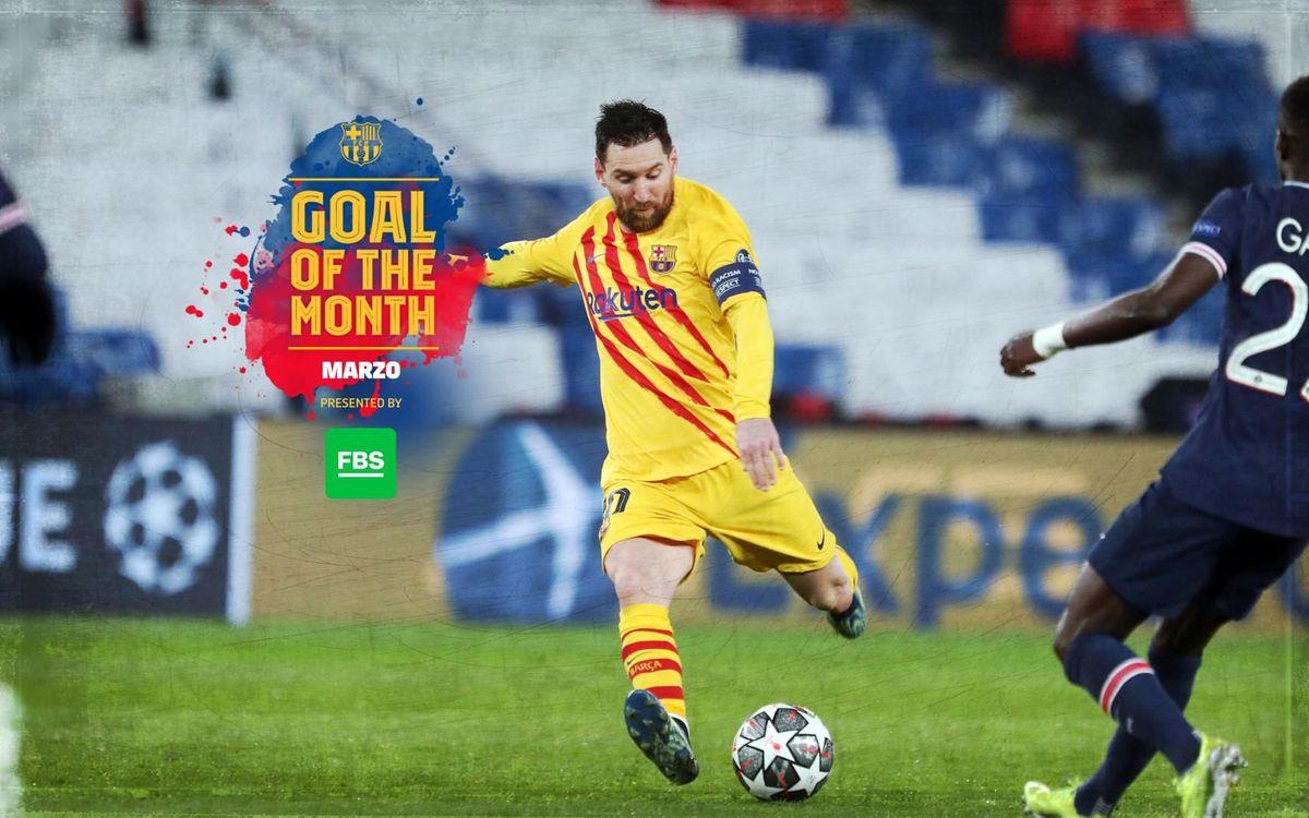 Messi, ganador del 'Goal of the Month' de marzo