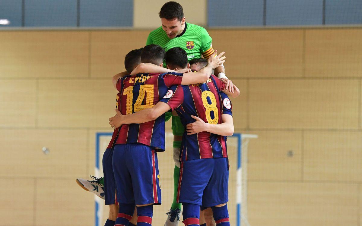 Barça B – Atlético Benavente FS (4-1): Retorn a la victòria!