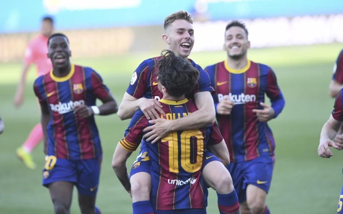 Barça B - Alcoià: La segona fase comença amb victòria (2-1)