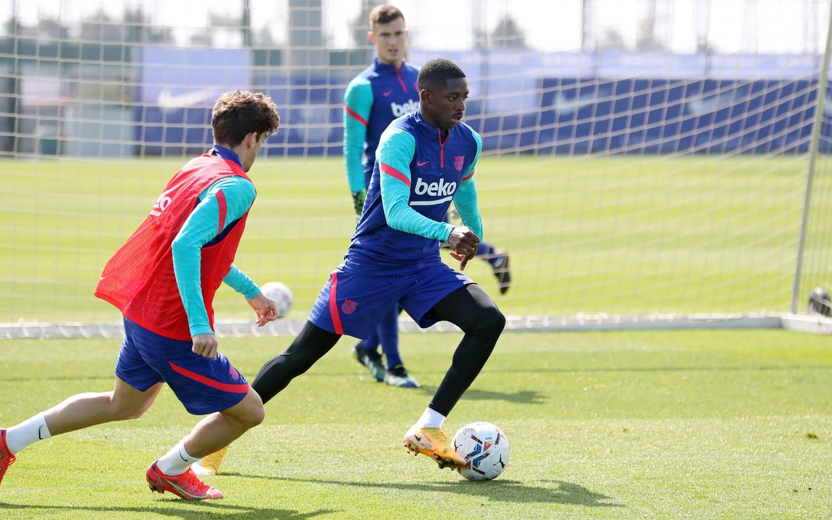 Preparing for the game against Valladolid