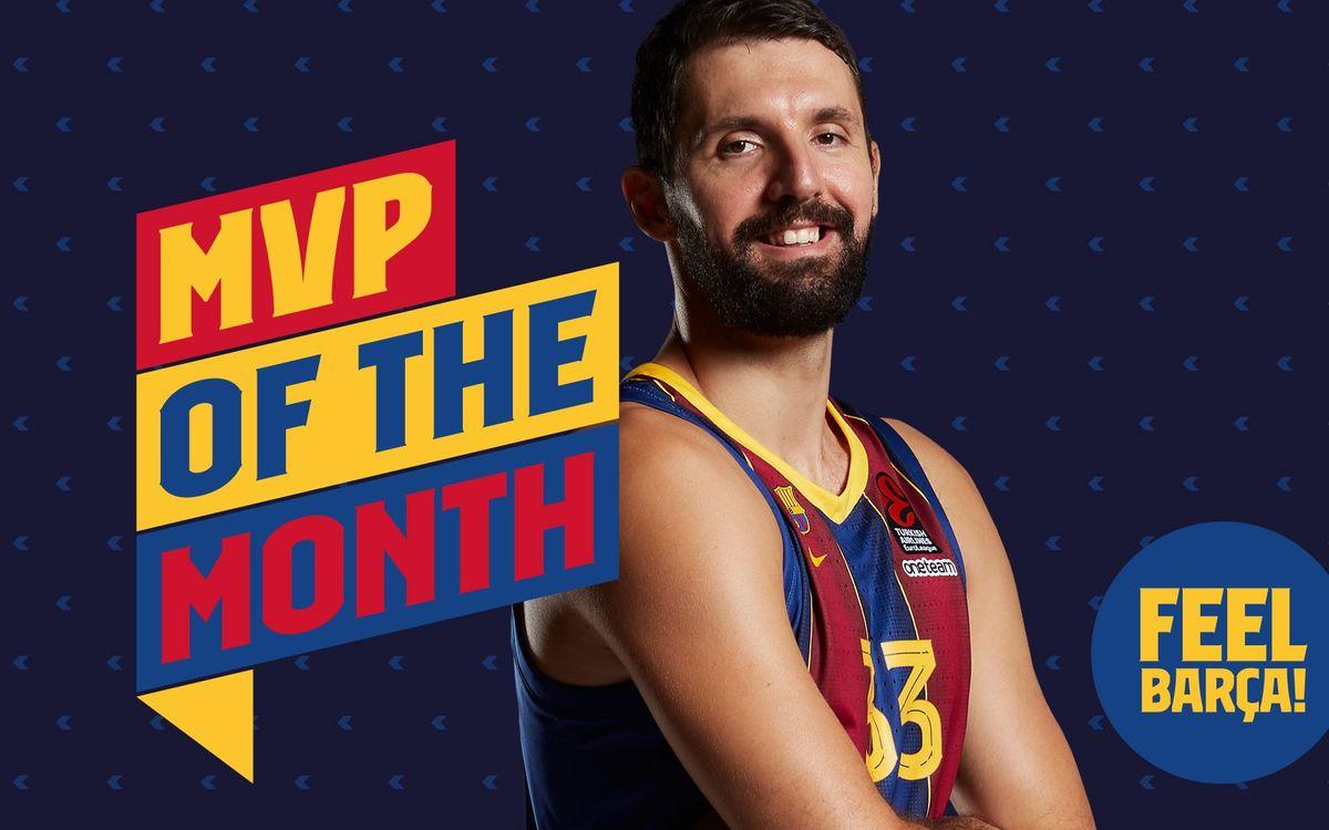 Nikola Mirotic, MVP del mes de març a l'Eurolliga