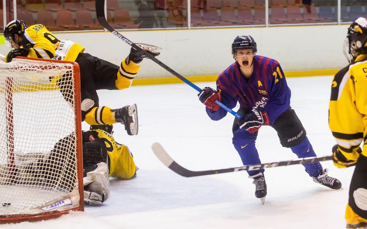 El Barça Hockey Gel toma ventaja en la final (2-0)