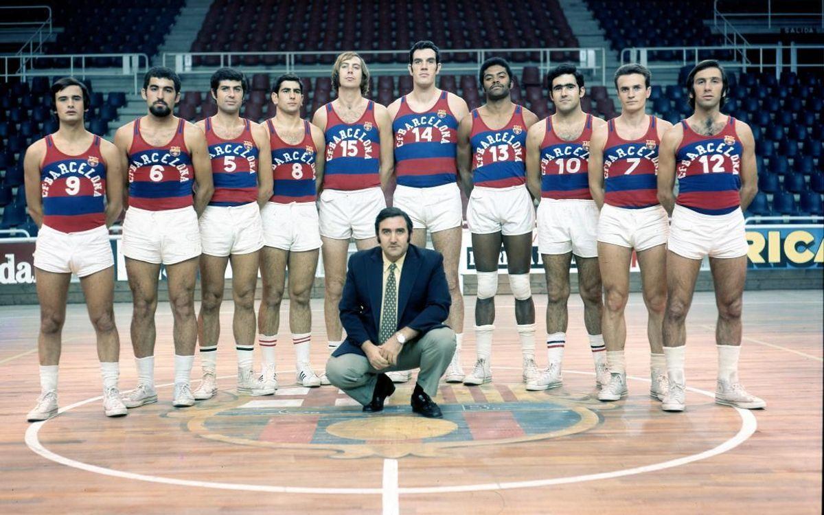 Charles Thomas, durante la foto oficial de la temporada 1971/72.