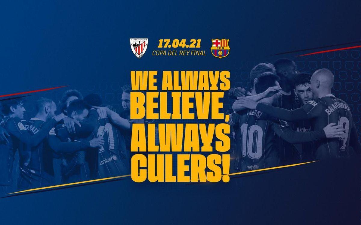We always believe. Always culers!