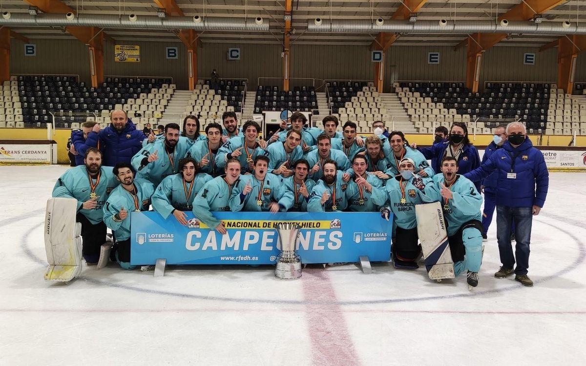 El Barça Hockey Gel es proclama campió de Lliga