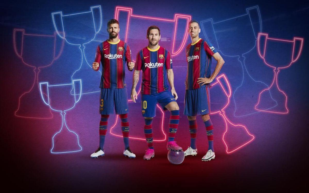 Messi, Sergio y Piqué, los jugadores con más Copas de la historia