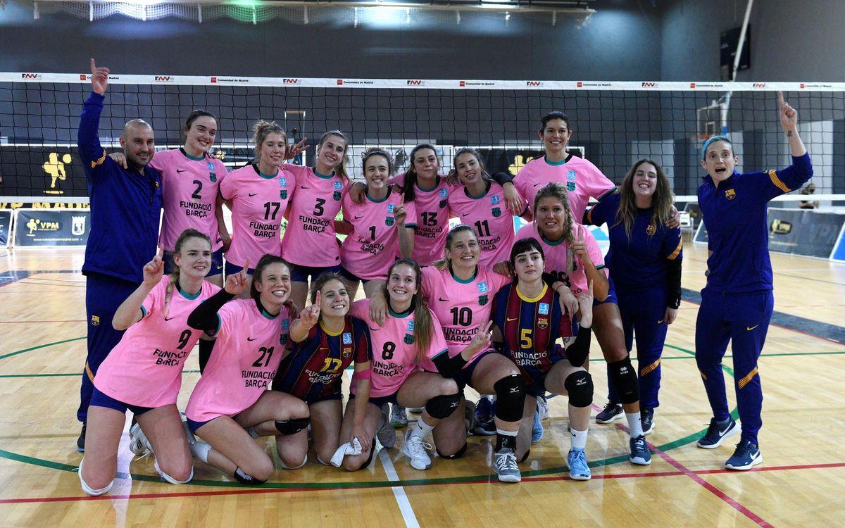 Regreso a la máxima categoría y campeonato para el Barça Vóley femenino
