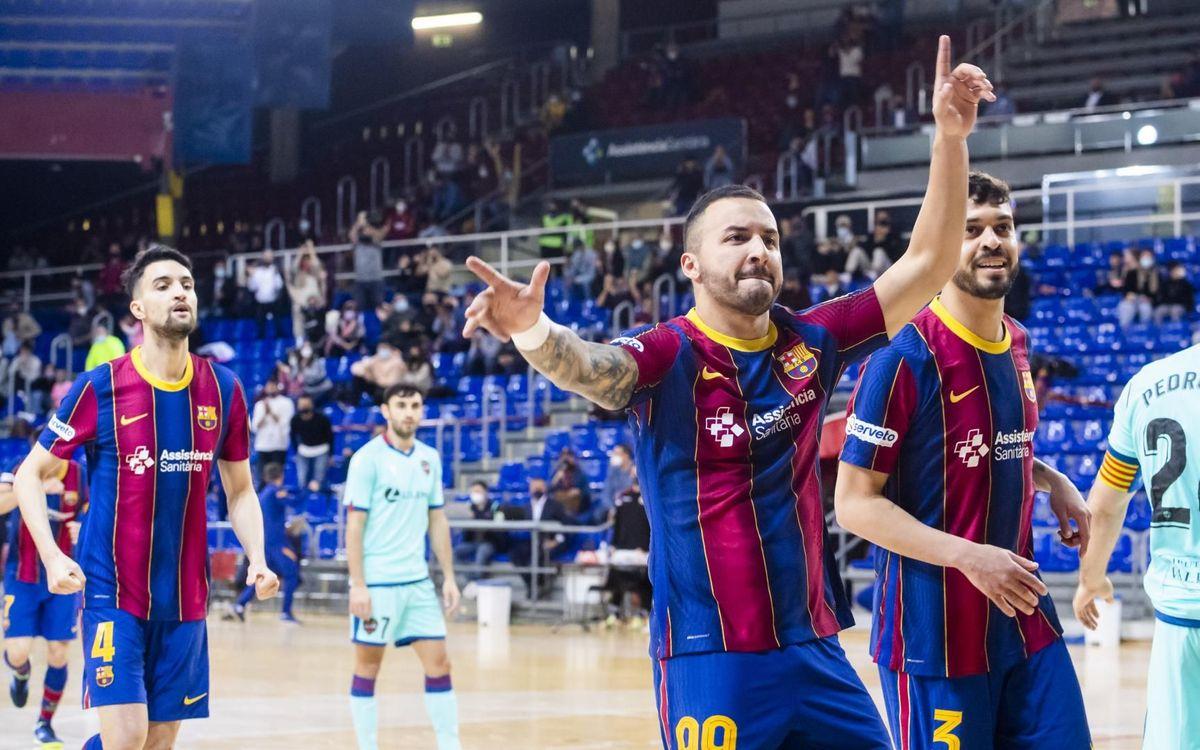 Barça - Levante: Triunfo de prestigio en un partido de alto voltaje (6-3)
