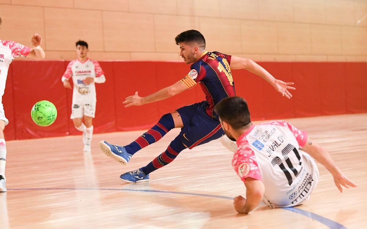 Barça B – Noia Portus Apostoli: El líder se impone en un duelo igualado (3-5)