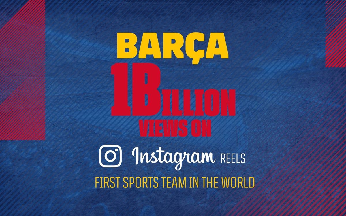 FC Barcelona becomes first sports club to reach over a billion views on Instagram Reels
