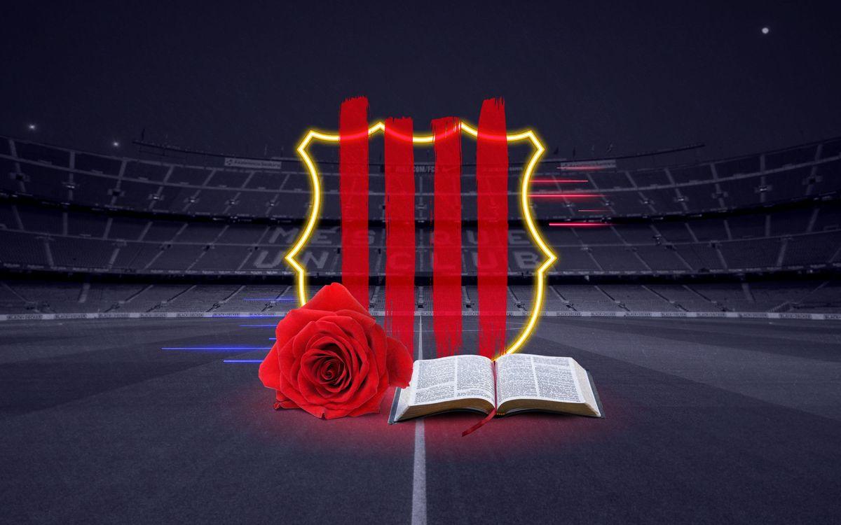 Un Sant Jordi azulgrana con regalos, juegos y divulgación cultural