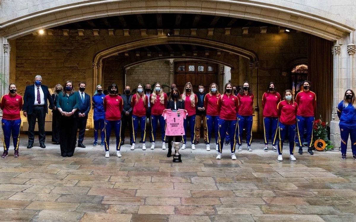 Recepció de la Generalitat al Barça Voleibol femení