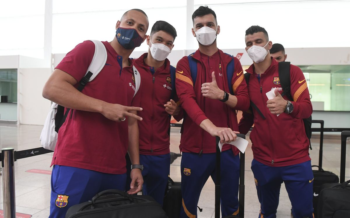 Barça futsal squad arrive in Croatia