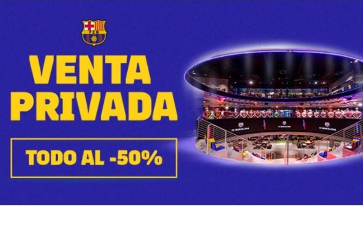 Tres días de descuento del 50% en la Tienda Store del Camp Nou