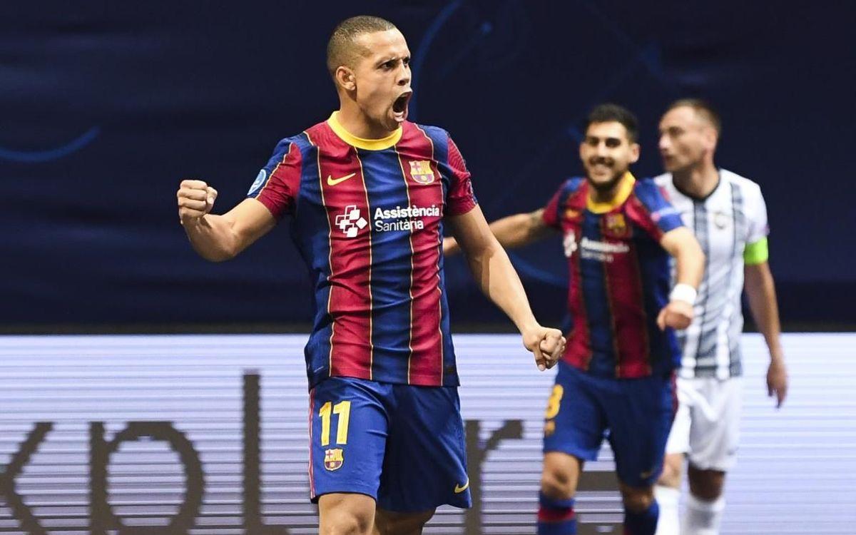 La UEFA nomina la volea de Ferrao en la Champions al mejor gol del año