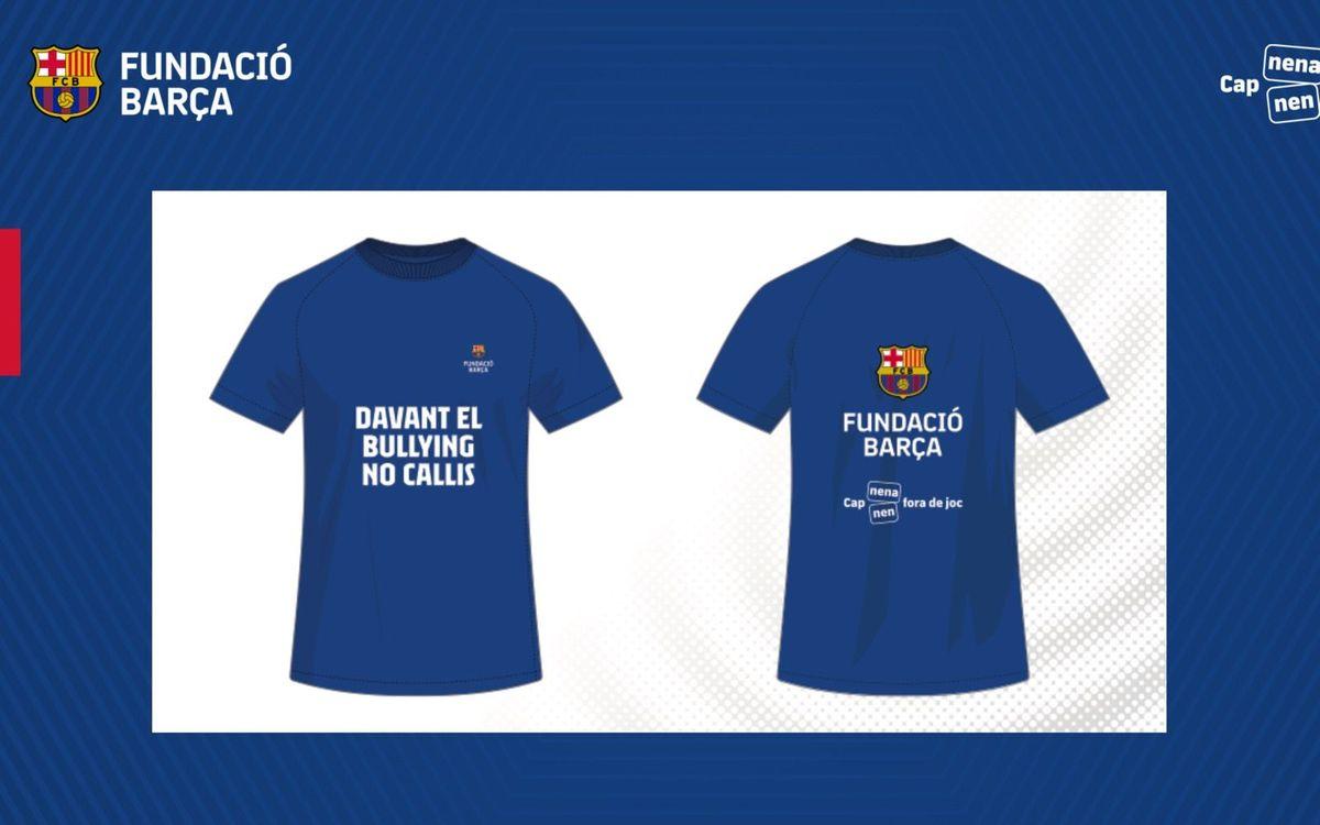 El primer equip dona suport a la campanya contra el bullying de la Fundació Barça