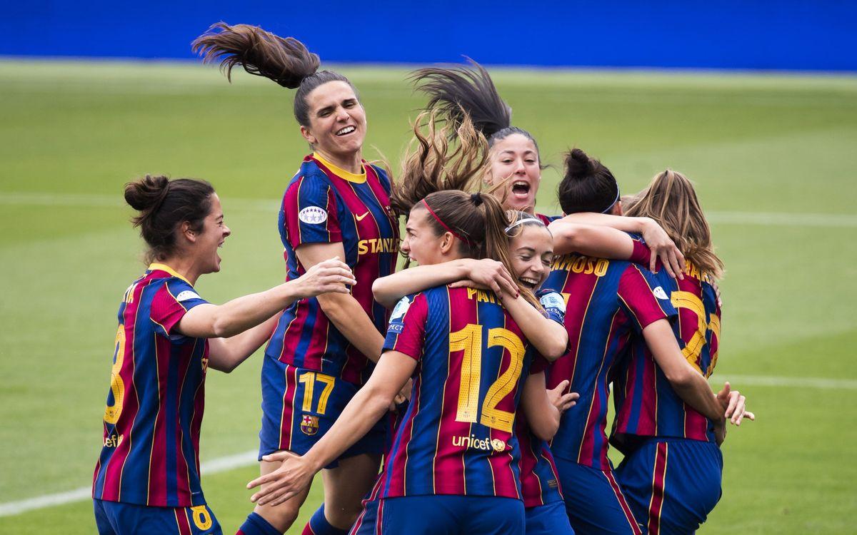 Barça- París Saint-Germain: A la final de la Lliga de Campions femenina! (2-1, 3-2)