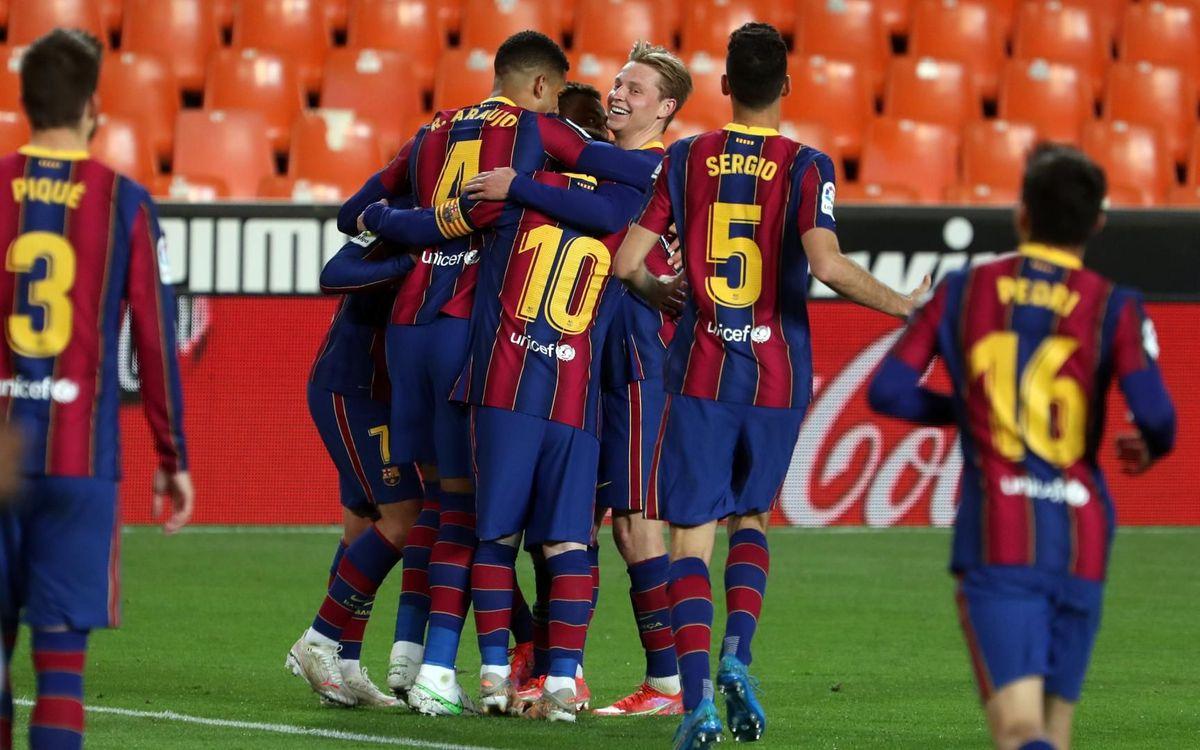 València – FC Barcelona: Traca culer a Mestalla (2-3)