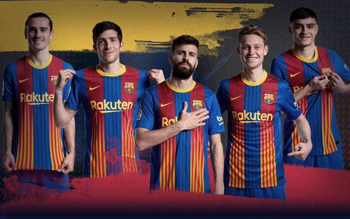 El Barça jugará contra el Atlético con la camiseta que une el azulgrana y la 'senyera'