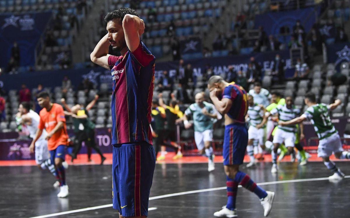 Barça - Sporting CP: El título europeo se escapa de las manos (3-4)