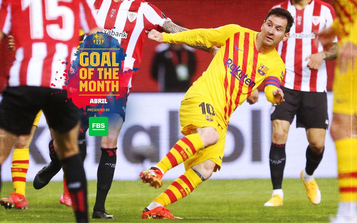 Messi, guanyador del 'Goal of the Month' del mes d'abril