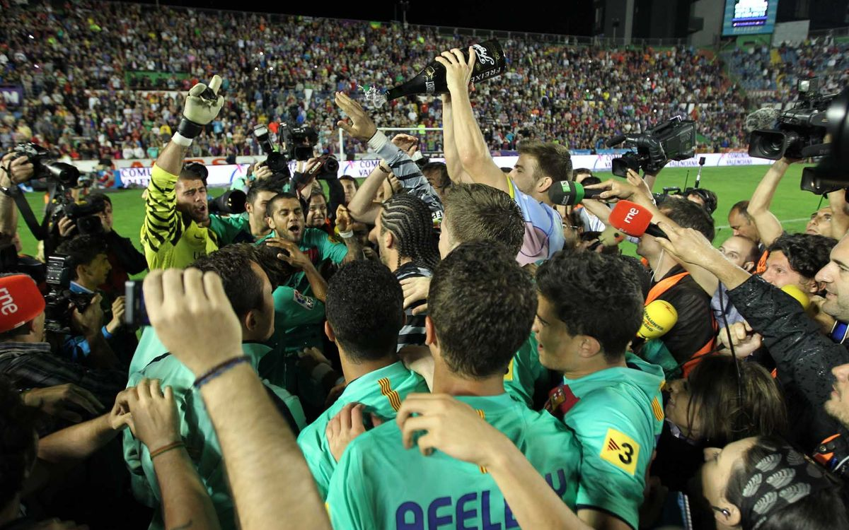 10 years since Barça won La Liga at Levante