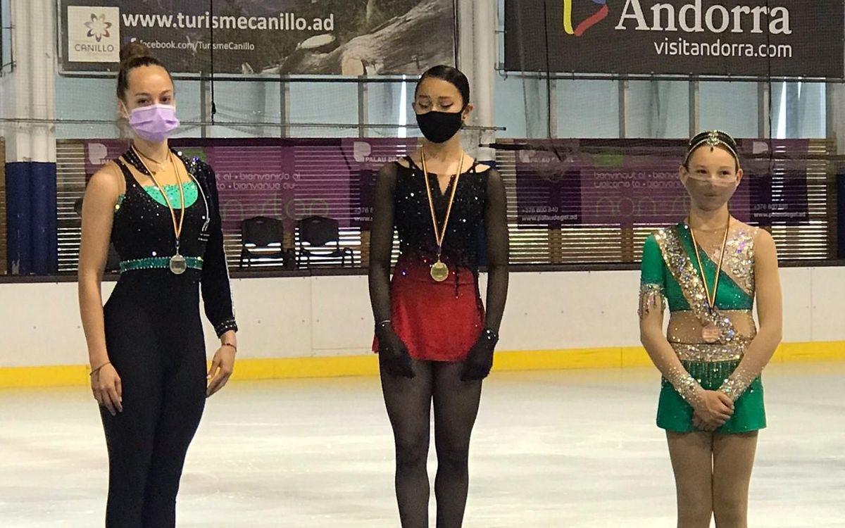Bona collita de medalles al Campionat d'Andorra de patinatge artístic