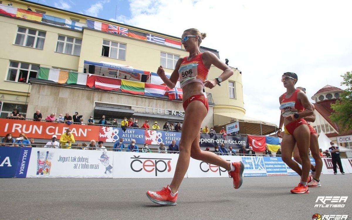 Raquel González, medalla d'or amb el combinat espanyol a l'Europeu de marxa per equips