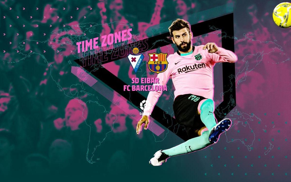 When and where to watch Eibar v Barça