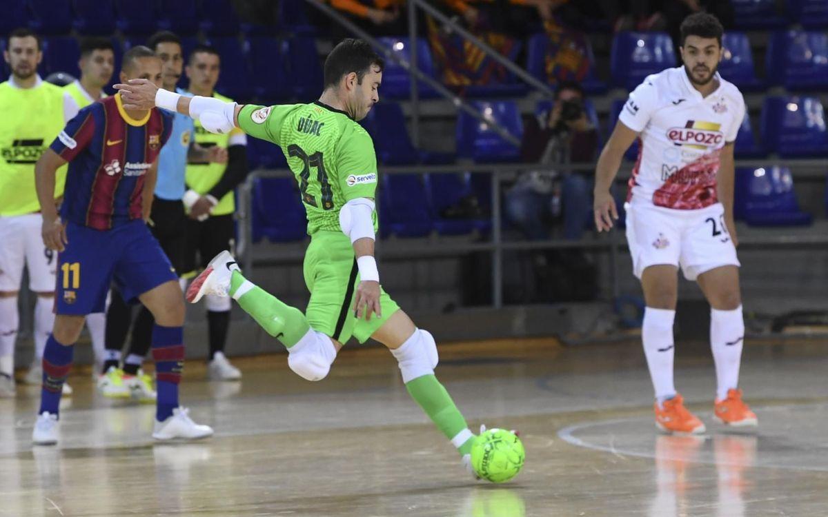 Barça 0-0 ElPozo Murcia: Goalkeepers rule in draw at Palau