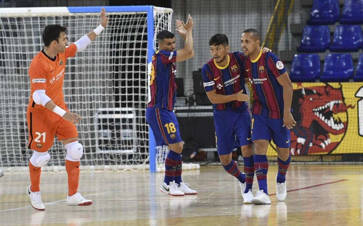 Barça 5-2 UMA Antequera: Win at last game of regular season at Palau