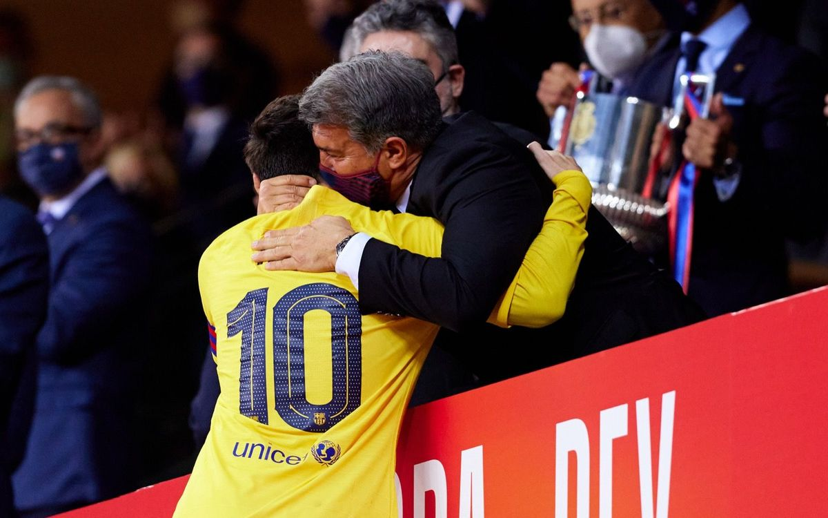 Joan Laporta: 'The new contract with Messi is going well, but it's not done'