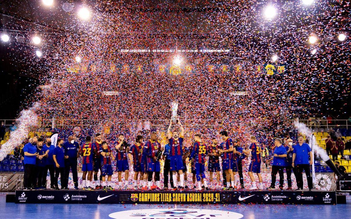 Barça - Frigoríficos Morrazo: Bajan el telón de una liga perfecta (35-23)