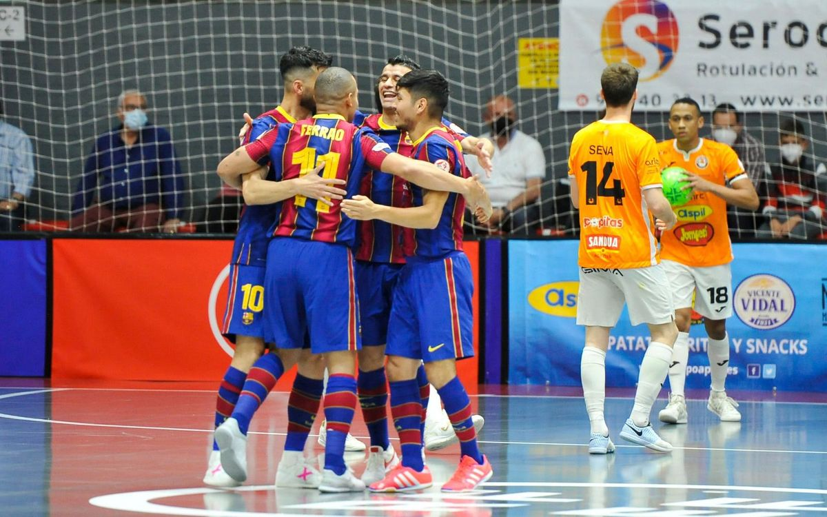 Ribera Navarra 2-5 Barça: Into the play-off!