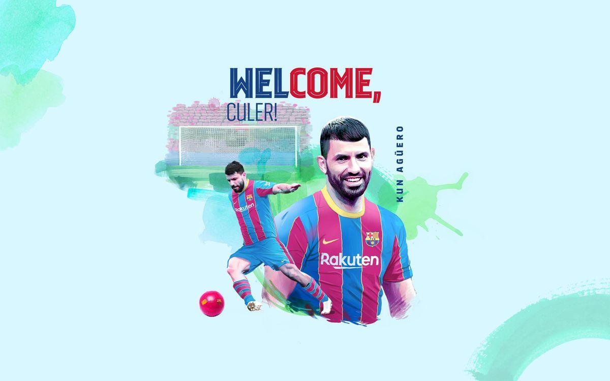 FC Barcelona sign Sergio 'Kun' Agüero
