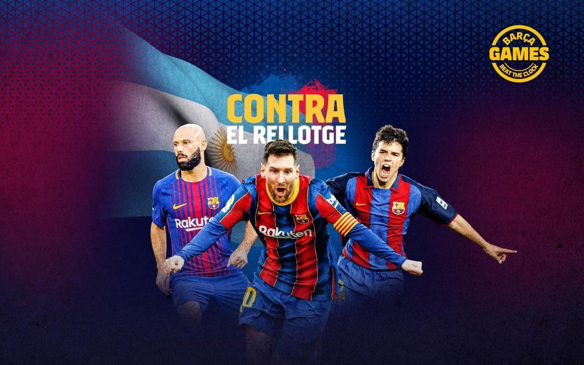 CONTRA EL RELLOTGE   Anomena els argentins que han estat al Barça al s. XXI