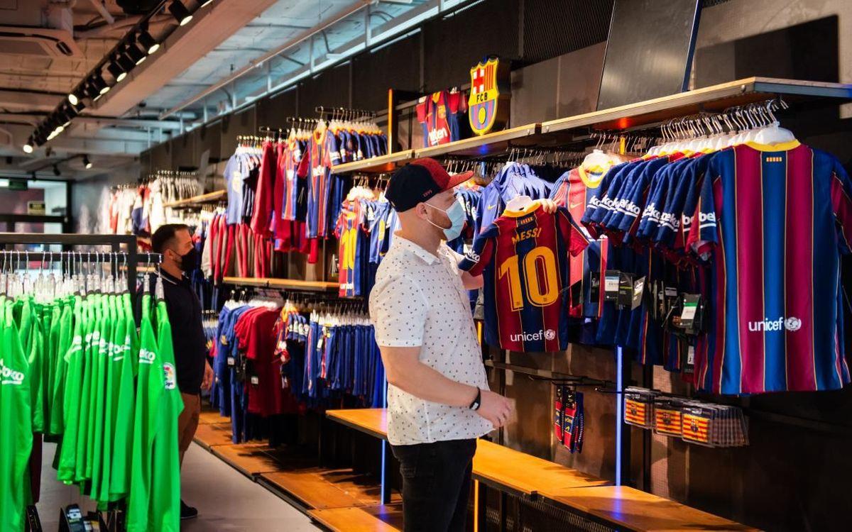 La Barça Store del Camp Nou reobre per a tothom