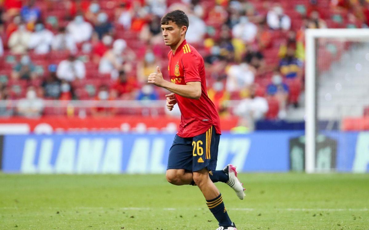 Pedri, plus jeune joueur à débuter avec l'Espagne à l'Euro
