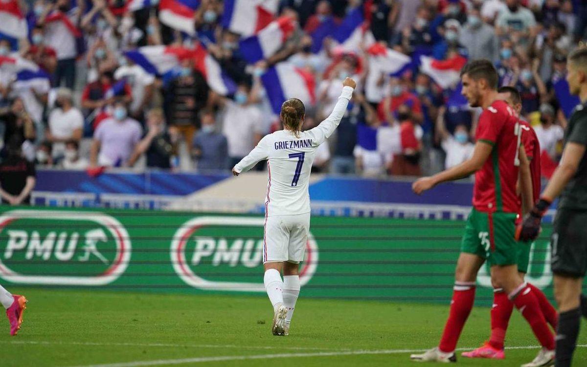 Griezmann, goleador en el triunfo contra Bulgaria